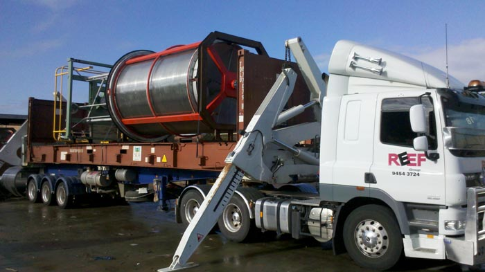 Reef Group transport company Perth moving large construction materials