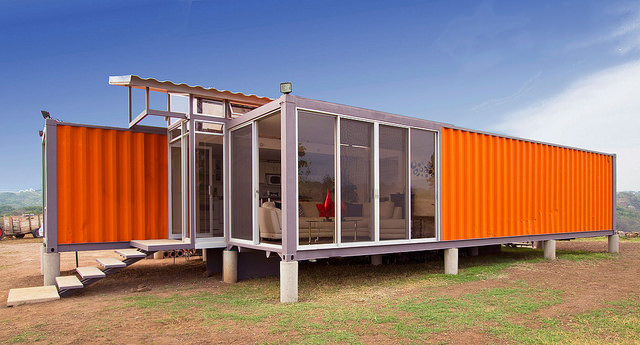 Luxury shipping container home built in beautiful Western Australia land