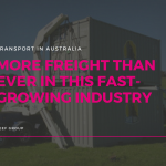 Blog title image about fast-growing freight transport industry in WA